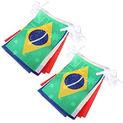 Brazil World Cup Top 32 String Flags Fans Bar Restaurant Decoration.