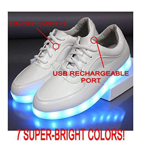 Bewild Brand Led Light Up Shoes All White Us Mens Size 6