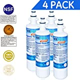 Icepure RWF1200A 4PACK Refrigerator Water Filter Compatible with LG LT700P, ADQ36006101 ,KENMORE 469690