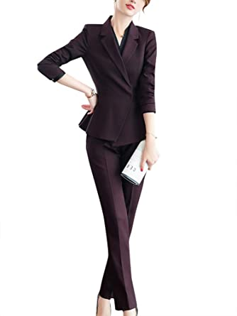 Traje de Trabajo Formal para Mujer, de Dos Piezas, para Oficina ...