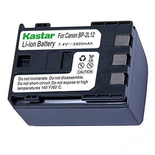 Kastar Battery for Canon BP-2L12 BP-2L13 BP-2L14 BP-2L15 BP-2L24H BP-2L5 NB-2L NB-2LH NB-2L12 NB-2L14 and DC310 DC330 Elura 60 Vixia HG10 Vixia HV20 Vixia HV30 ZR100 ZR200 ZR300 ZR500 ZR600 ZR800