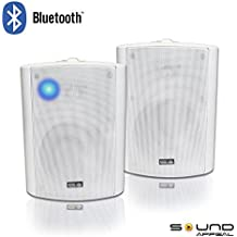 "Bluetooth 5.25"" Indoor/Outdoor Weatherproof Patio Speakers (White- pair)-by Sound Appeal"