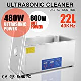 OrangeA Ultrasonic Cleaner Ultrasonic Cleaner Solution Heated Ultrasonic Cleaner 22L for Jewelry Watch Cleaning Industry Heated Heater with Drainage System (22 Liter)