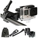 EEEKit Gun/Fishing Rod/Bow Fixing Clip Mount Sportsman Mount for GoPro HERO 5 4 3+Black Session, APEMAN/AKASO EK7000/SOOCOO/VTech Kidizoom Action Sports Camera