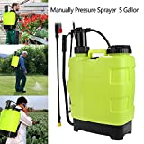 Kemanner 5 Gallon Portable Pressure Knapsack Sprayer 20L Pump Sprayers Garden Yard Weed Chemical Sprayer Green(US Stock)