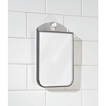 mDesign Espejo para tocador para afeitarse en la ducha, arreglarse o ...