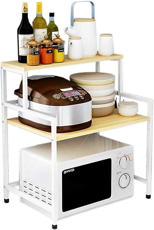 Amazon.com: Estante de cocina de madera maciza, práctico ...