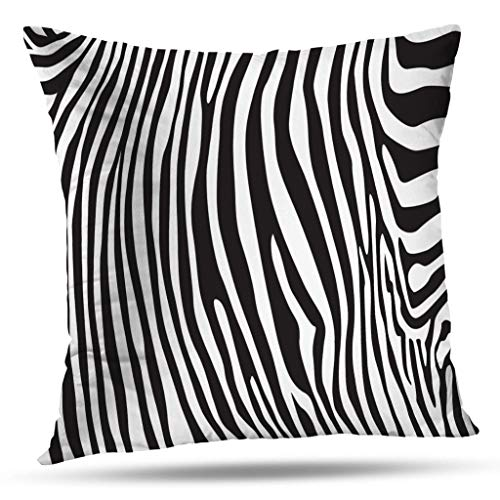 - ONELZ Throw Pillow Covers, Zebra Stripes Pattern Double-Sided Pattern Sofa Cushion Cover Couch 16 x 16 Inch Decorative Home Gift Bed Pillowcase