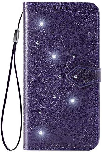 Lomogo OPPO R15 Neo/Realme 2 ケース 手帳型 耐衝撃 レザーケース 財布型 カードポケット スタンド機能 マグネット式 オッポR15 Neo 手帳型ケース カバー 人気 - LOSDA051275 紫