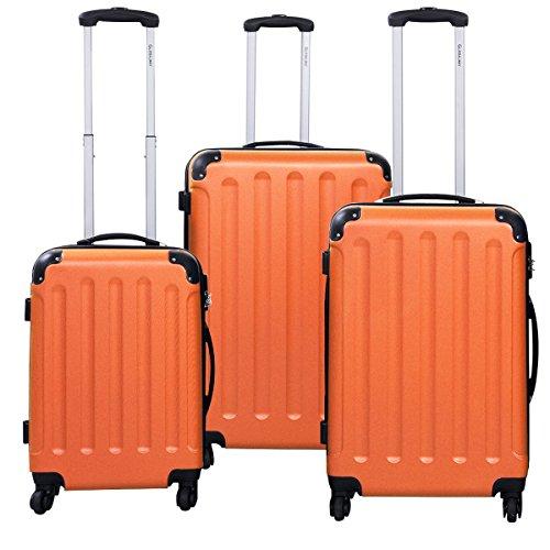Goplus 3 Pcs Luggage Set Hardside Travel Rolling Suitcase