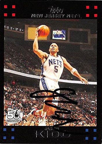 d9c99d942e92 Amazon.com  Jason Kidd autographed Basketball Card (New Jersey Nets) 2007  Topps  5 - Unsigned Basketball Cards  Sports Collectibles