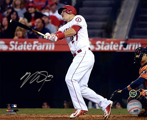 Mike Trout Los Angeles Angels Signed Autographed 8