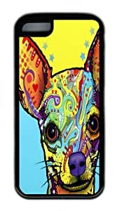 iPhone 5C Case, Chihuahua 02 TPU Rubber Soft Case Back Cover for iPhone 5C Black