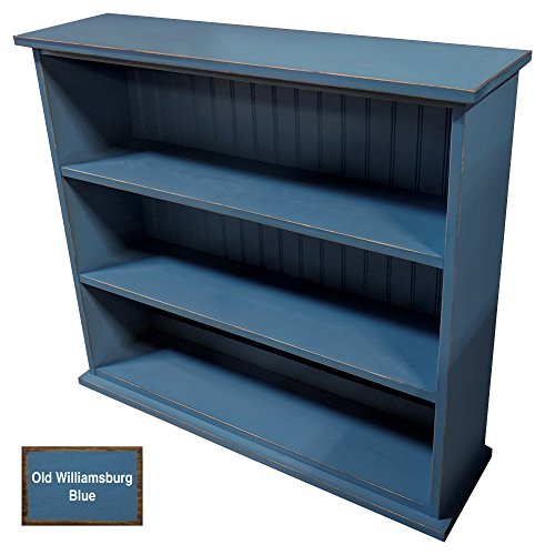 Sawdust City Cottage Style Bookcase 3 Shelves (Old Williamsburg Blue)