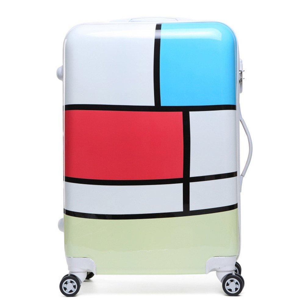 スーツケース 漫画ユニバーサルホイール20 - インチスーツケース子供バッグ24 - プル - ボックストランクスーツケース男性学生旅行や搭乗のための荷物 B07V5XKVHG