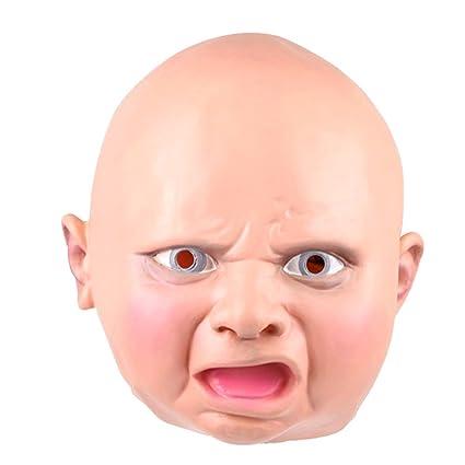 Tinksky Máscara de Látex Cabeza de Bebé para el Halloween Traje de Disfraces