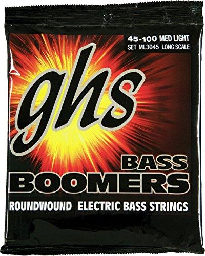 GHS Strings Electric Bass Boomer Set (Medium Light Nickel Steel, 4-String, Long Scale)