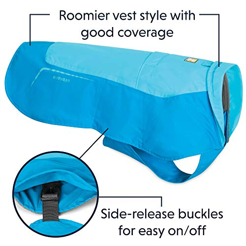 RUFFWEAR - Vert Waterproof Fleece Jacket for Dogs, Blue Atoll, Medium	 by RUFFWEAR (Image #4)