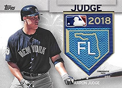 Amazon.com  2018 Topps Series 1 Aaron Judge Relic Patch Spring ... 18d490b66bd