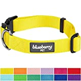 Blueberry Pet 12 Colors Classic Dog Collar, Blazing Yellow, Medium, Neck 14.5