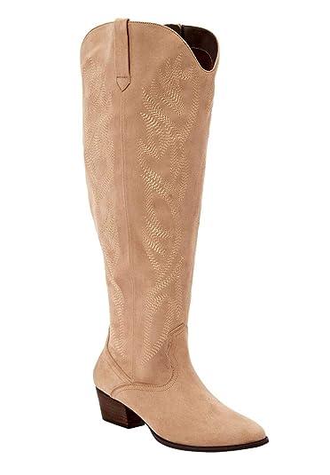 fcdb270f232 The Isabella Wide Calf Boot - Beige