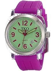 TKO ORLOGI Womens TK558-GPR Milano Junior Acrylic Case Green Dial Watch