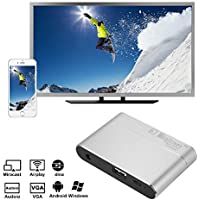 XCSOURCE Full HD 1080P MiraScreen Display Dongle HDMI VGA Video Converter Miracast DLNA Airplay Mirroring Display Dongle for iPhone 7/ 7plus AH333