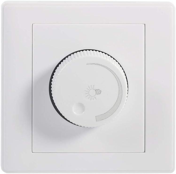 Dimmer Light Switch Práctico Inicio Montado En La Pared Perilla Giratoria Lámpara Brillo Panel De Control Dimmer Switch