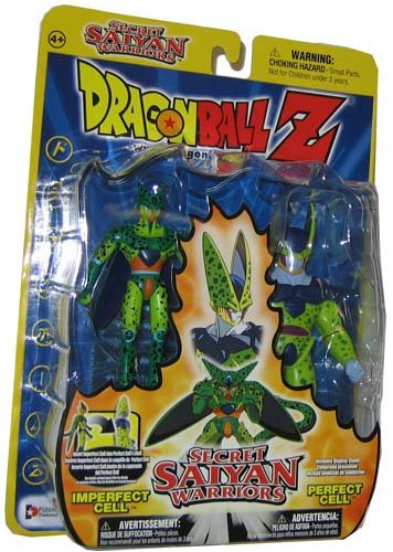 (Dragonball Z Secret Saiyan Warriors Action Figure 2-Pack Imperfect Cell & Perfect Cell)