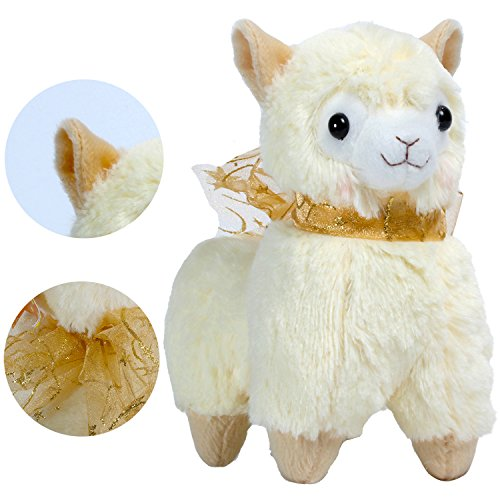 "KSB 7.3"" Yellow Small Cute Soft Stuffed Plush Alpaca Cushion Toy Doll,Best Birthday Gifts For The Children Kids Over 3 Years-1 PCS"