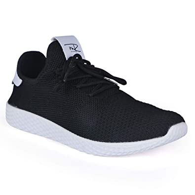ef8299a04 Mr.SHOES 1821-1-  RED Black White  Original X Pharrell Williams Tennis HU  Sneakers  Buy Online at Low Prices in India - Amazon.in
