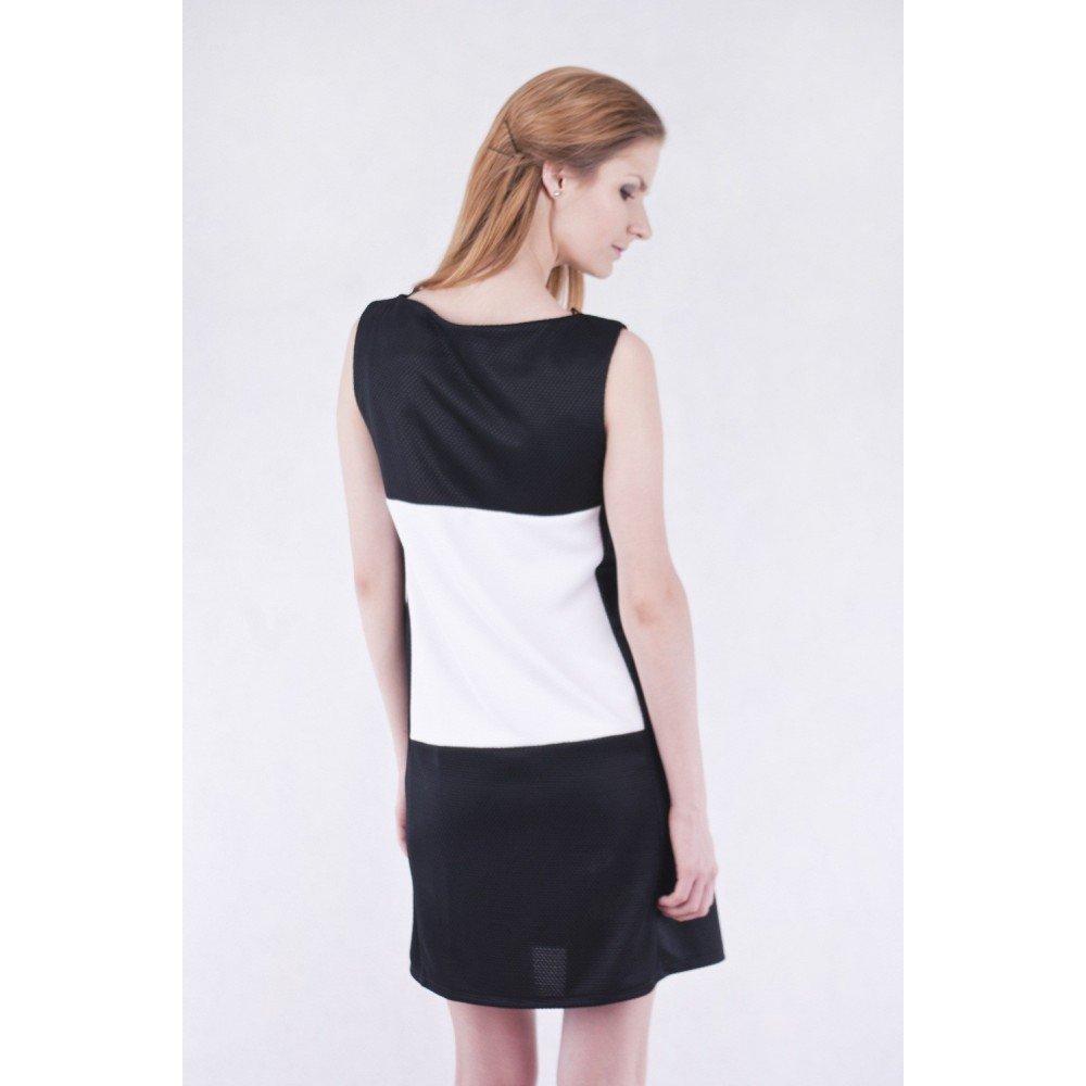 ASOS John Zack funda vestido negro - blanco negro/blanco 40 ...