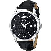 Men's 12243 Vintage Analog Display Swiss Quartz Black Watch