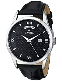 Invicta Men's 12243 Vintage Analog Display Swiss Quartz Black Watch