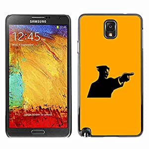 Planetar® ( Yellow Mad Guy ) Fundas Cover Cubre Hard Case Cover Samsung Galaxy Note 3 III / N9000 / N9005