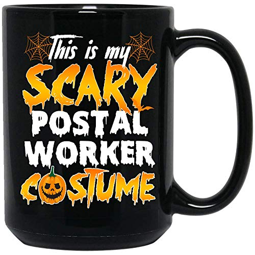 The Hidden Pride This Is My Scary Postal Worker Costume Coffee Mug Halloween Ceramic (Black, 15 OZ)]()