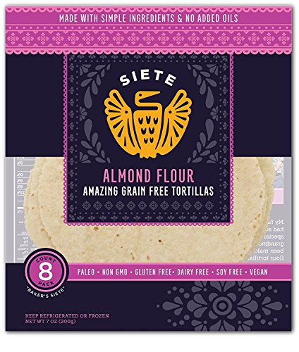 Siete Almond Flour Tortillas, Paleo Approved, 8 count (4 Pack) by Siete (Image #2)