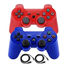 Bowink Wireless Bluetooth Controller For PS3 Double Shock (Red and Blue)