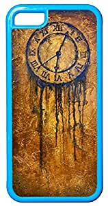 Clock Art Painting Customizable Covers for iPhone 5c At Colored Cases Store