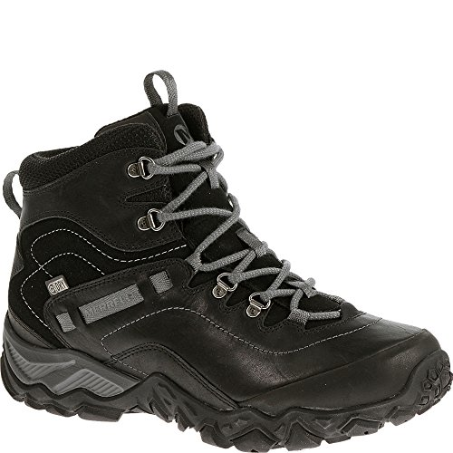 Merrell Women's Chameleon Shift Traveler Mid Waterproof Hiking Boot, Black, 6.5 M US