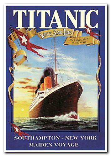 Wall Decor Titanic White Star Line Cruise Ship Vintage Poste