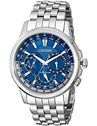 Citizen Eco-Drive Mens BU2021-51L Calendrier Stainless Steel Watch