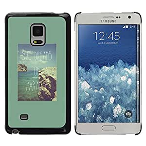 Be Good Phone Accessory // Dura Cáscara cubierta Protectora Caso Carcasa Funda de Protección para Samsung Galaxy Mega 5.8 9150 9152 // green paradise vacation tropical sun