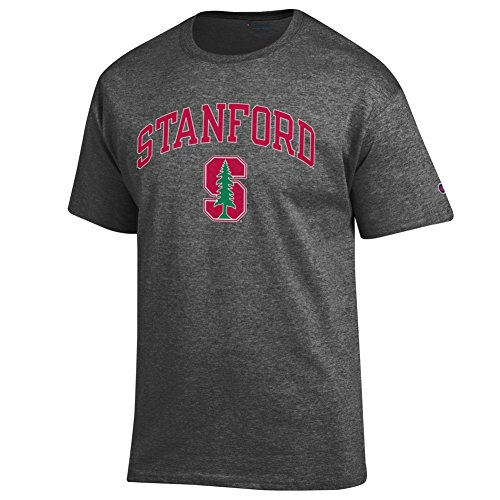 Elite Fan Shop Stanford Cardinals TShirt Arch Charcoal - XL