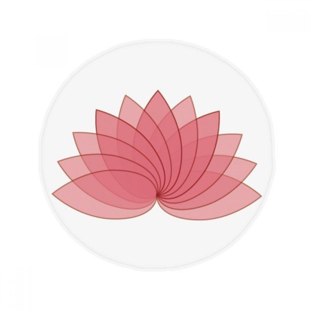 60X60cm DIYthinker Plant Flower Lotus Flower Illustration Anti-Slip Floor Pet Mat Round Bathroom Living Room Kitchen Door 60 50Cm Gift