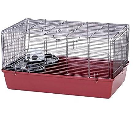 Alaska Spacious Funcional Jaula de hámster–con un Slide, Plataforma y un iglú den–Adecuado para pequeñas Hamsters y gerbos