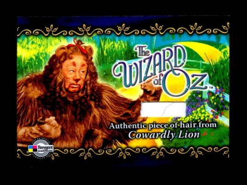 Authentic Cowardly Lion Costumes (WIZARD OF OZ Authentic Costume Prop Card COWARDLY LION Own A Piece Of American History)