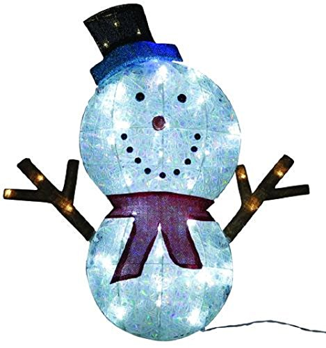 Pre-Lit LED Twinkle Snowman - (Enchanted Scarf)
