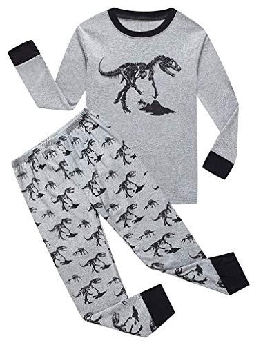 Dinosaur Little Boys Long Sleeve Pajamas 100% Cotton Pjs Sleepwear Sets Toddler Size 4T