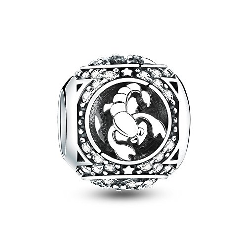 Glamulet Art - Scorpio Charm -- 925 Sterling Silver -- Fits Pandora Bracelet